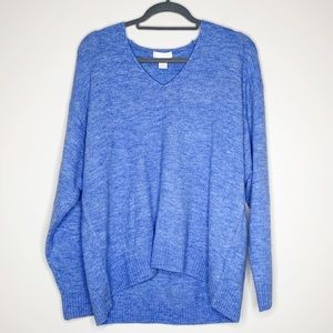 H&M Blue VNeck Super Soft Sweater Size Medium